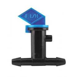 Hydro Flow In-Line Flag Emitter Blue 2 GPH - Display Box