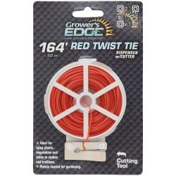 Grower's Edge Red Twist Tie Dispenser w/ Cutter 164 ft