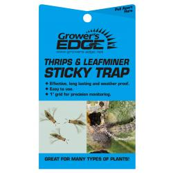 Grower's Edge Thrips & Leafminer Sticky Trap 5/Pack (80/Cs)