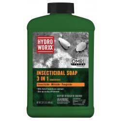 HydroWorxx Insecticidal Soap 3 in 1 Conc. 32 oz