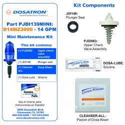 Dosatron Mini Seal Kit for Water Powered Doser 14 GPM 1:3000 to 1:333
