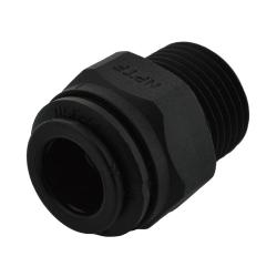 Ideal H2O JG Quick Connect Fitting - 1/4 in to 1/4 in NPTF - Black