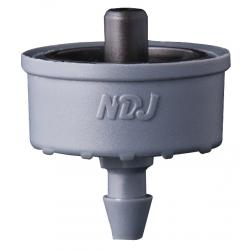 Jain Irrigation Click-Tif Pressure Compensated Dripper w/ Check Valve 1.0 GPH Black (1=100/Bag)