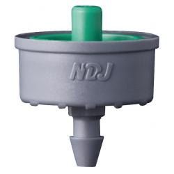 Jain Irrigation Click-Tif Pressure Compensated Dripper w/ Check Valve 2.0 GPH Green (1=100/Bag)