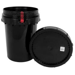 Harvest Keeper Spin Lock 12 Gal Black Bucket w/ Lid