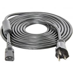 Power Cord For Phantom, Phantom DE, and Xtrasun Ballasts, 15', 240V, w/Ferrite Ring, AWG 16/3
