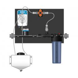 Dosatron Etatron eOne Micro-Dosing Pump 0.75 in - Assembled Panel (Left to Right)
