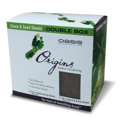 "Oasis Origins Seed and Clone Double Box, 1.5"" x 1.5"", 10 per case"