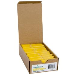 "Hydrofarm Plant Stake Labels, Yellow, 4"" x 5/8"", case of 1000"