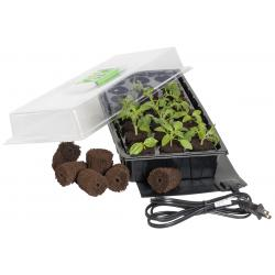 Jump Start 24-Cell Grow Plug Mini Germination Station w/Heat Mat