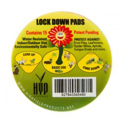 "High Yield Lock Down Pads, 3"", pack of 15"