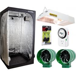 Lighthouse Tent Kit w/Sunburst CMh Grow Light and Ventilation Fans, 4' x 4'