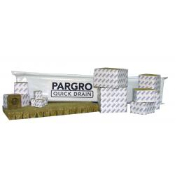 "Pargro Quick Drain 4""x4"" case of 72 blocks 12 wrapped strips"