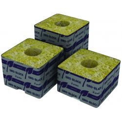 "Grodan Delta 4 Block, 3"" x 3"" x 2.5"" with hole, case of 384"
