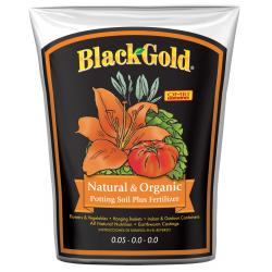 Black Gold Natural & Organic Potting Soil Plus Fertilizer, 1.5 cu ft