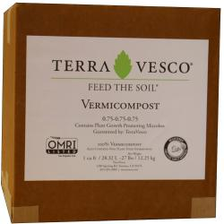 TerraVesco Vermicompost, 1 cu ft (boxed)