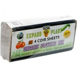 Wonder Soil Expand & Plant Organic Soil Sheets, pack of 4