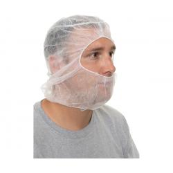 International Enviroguard Ninja Hood Polypropylene Face and Head Cover, 1000/cs