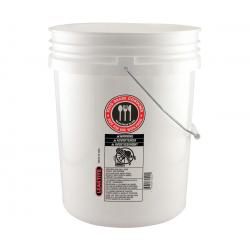 Hydrofarm White Bucket, Food Safe, 5 gal