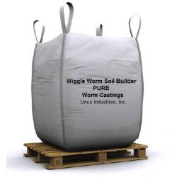 Wiggle Worm Soil Builder PURE Worm Castings Bulk, 2000 lb