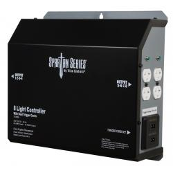 Titan Controls Spartan Series Metal 8 Light Controller 240 Volt w/ Dual Trigger Cords - Universal Outlets
