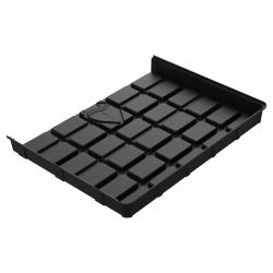 Botanicare 4'Wx3'L Black ABS End Tray