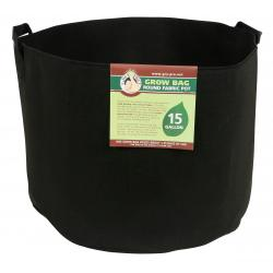Gro Pro Premium Round Fabric Pot w/ Handles 15 Gallon - Black