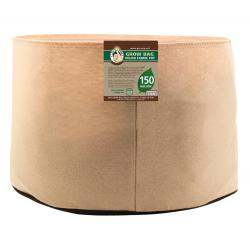 Gro Pro Premium 150 Gallon Round Fabric Pot-Tan