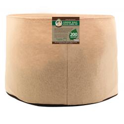 Gro Pro Premium 200 Gallon Round Fabric Pot-Tan