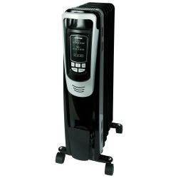 Hurricane Heatwave Whole Room Oil-Filled Radiant Heater w/ Digital Display and Remote - 1500 W