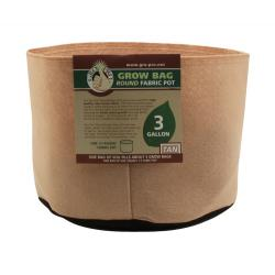 Gro Pro Premium 3 Gallon Round Fabric Pot-Tan