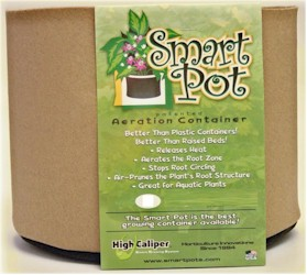 "Tan Smart Pot - 25 Gallon 21"" Wide x 15.5"" Tall"